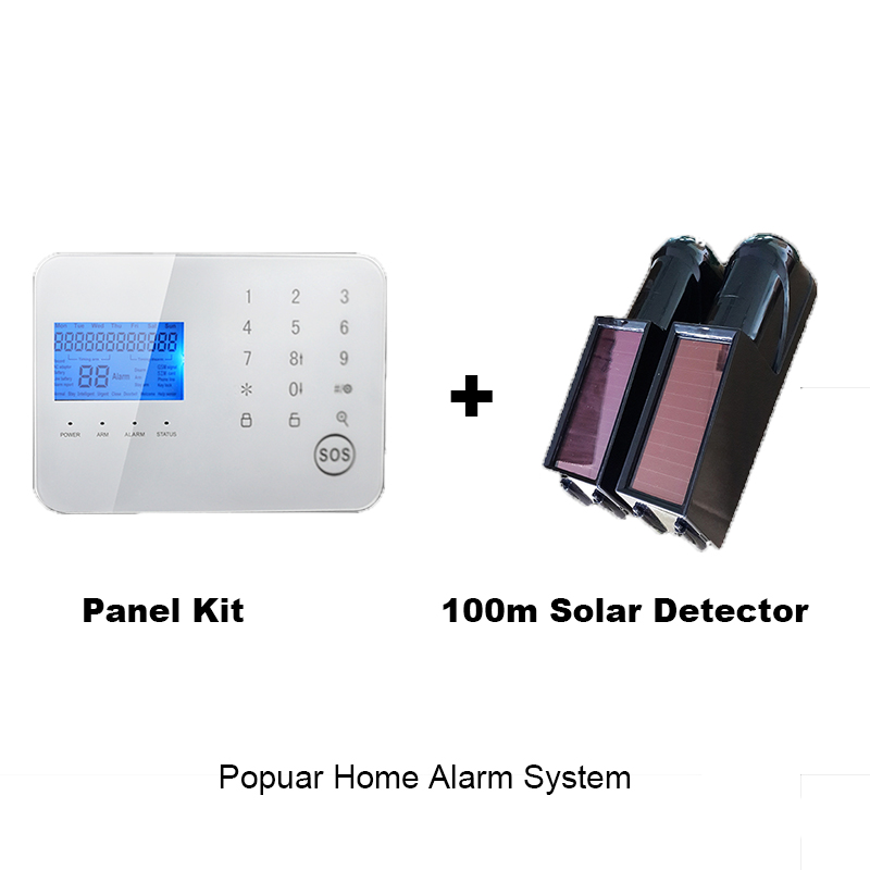 DHL shipping Popular seller solar detector home alarm keypad gsm security system kit for personal house factory fence auto(China (Mainland))