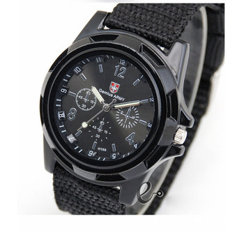 2015 New Fashion Soldier Military Quartz Canvas Strap Fabric Watch Men Outdoor Sports Watches For Male