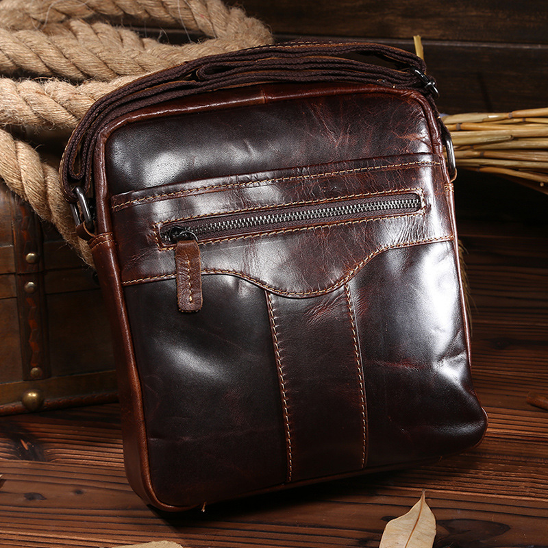 2015 New design fashion genuine leather bag men messenger bags casual small shoulder bags vintage crossbody bags bolsas de couro<br><br>Aliexpress