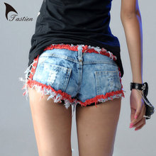 Newest Fashion Womens Super Jeans Denim Shorts 2016 Summer Cotton Sexy Lace-up Shorts Ladies Skinny Super Shorts Girls Plus Size