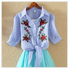HTB1xdsASpXXXXaKaFXXq6xXFXXXH - Women Summer Chiffon Blouse Plus Size Short Sleeve Casual Shirt