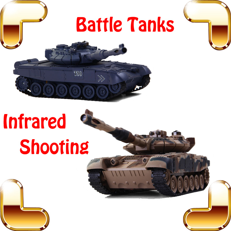 New Coming Gift COLLIDE Russia T90 Battle Tanks 8 Channel 1/24 RC Tank Electric Infrared Shooting Toy Model Tanks Fight Machine