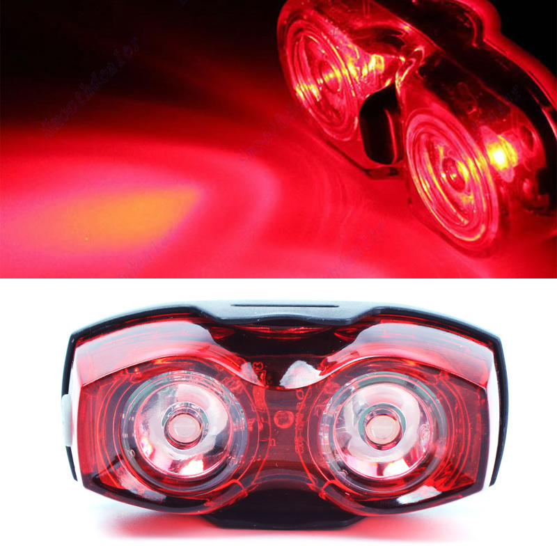Safety Back Rear Tail Flashing Light Lamp Tool Hot Bicycle Bike Cycling 2 LEDs #70791(China (Mainland))