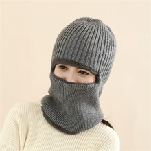 Christmas Gifts Windproof Hats Winter Lady Outdoor Riding Car Carts Velvet Warmer Hood Earrings Thicker Knitted Wool Head Cap(China (Mainland))