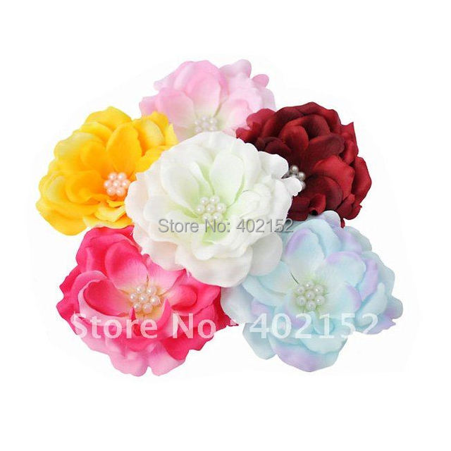 Cuty Baby Peony Flower Used Hair Clip Girl Headband for Girl Pettiskirt  Female Hair Accessories 100Pcs/lot