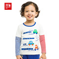 baby boys t shirt false two shirt striped sleeve patchwork design bottoming shirt toddler boys clothing