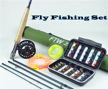 F t w 30 carbon 2.7 meters 5/6#  5section fly fishing rod lure rod fishing tackle set fly fishing