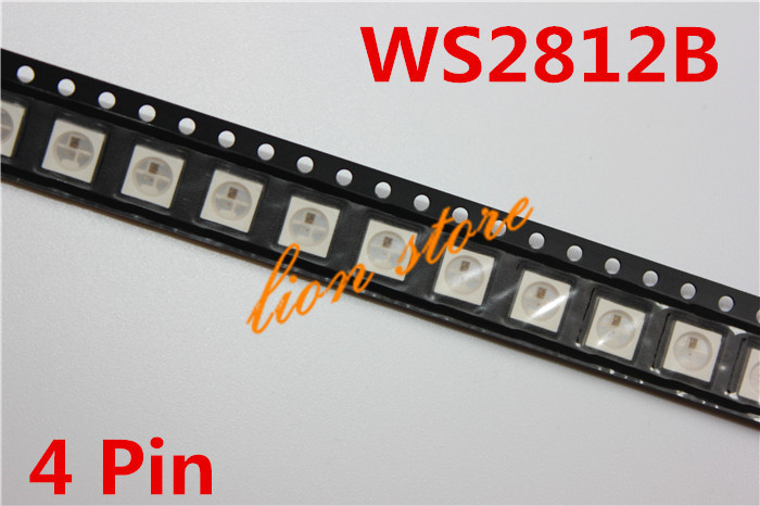 WS2812B (4pins) 5050 SMD W/ WS2811 Individually Addressable Digital RGB LED Chip 5V(China (Mainland))