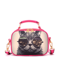 Famous Brand Fashion Cartoon Print Shoulder Bag Ladies Lovely Cat Hand held Bag Women Designer Small