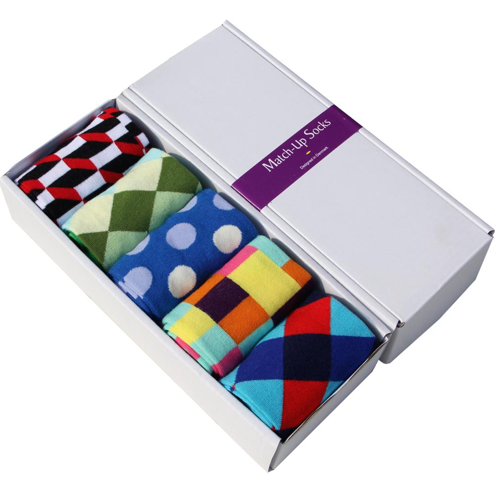 Frete Grátis penteados algodão marca homens meias, meias vestido colorido (5 pares/lote) sem caixa de presente(China (Mainland))