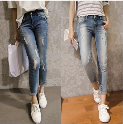 Hot Sale 2015 Autumn New Arrival Skinny Jeans Woman Denim Jeans Pants Trousers Jeans Femme Women Pencil Pants Elasticity