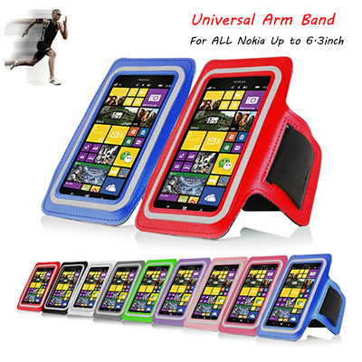 Universal Outdoor Sport Gym Running Arm Band Strap Holder Case Cover For Nokia Lumia 1520 1320 925 730 Pouch For Nokia X XL(China (Mainland))