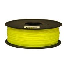 Synkia brand Fluorescent yellow 3D Printer Filaments PLA 1kg plastic Rubber Consumables for 3d Pen MakerBot/RepRap/UP/Mendel