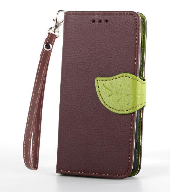 Гаджет  Leaf design for Sony Xperia Z3 Compact leather case magnetic wallet leather cover free shipping None Телефоны и Телекоммуникации