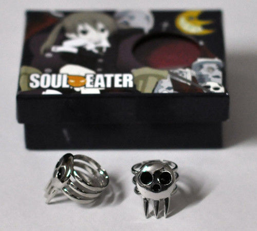 2 pcs Soul Eater Death The Kid Cosplay Ring Set Silver(China (Mainland))
