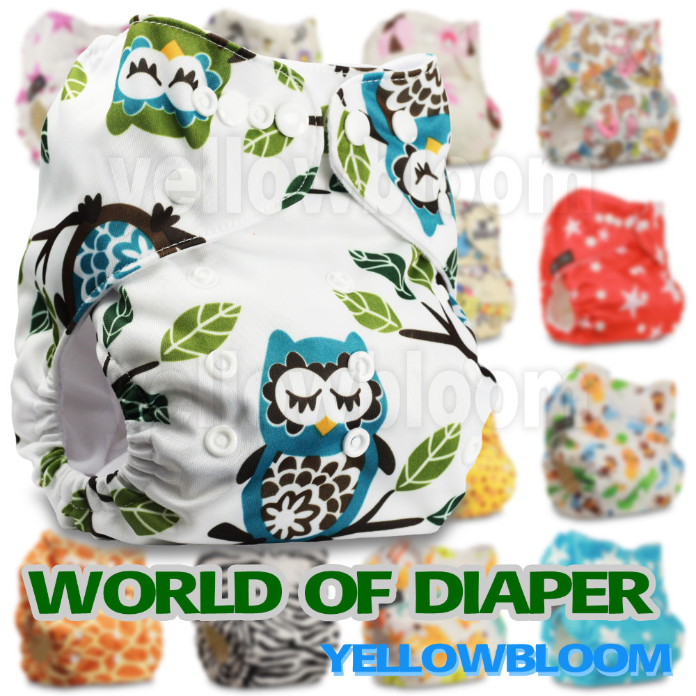 Baby Washable Reusable Real Cloth Pocket Nappy Diaper Cover Wrap, suits Birth to Potty One Size(China (Mainland))