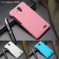 Colorful Oil coated Slim Frosted Rubber Matte Case Cover For Lenovo A536 A358T Capa Hybrid Hard