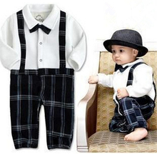 Designer Boys Infant Clothing Baby Romper Boys Gentleman