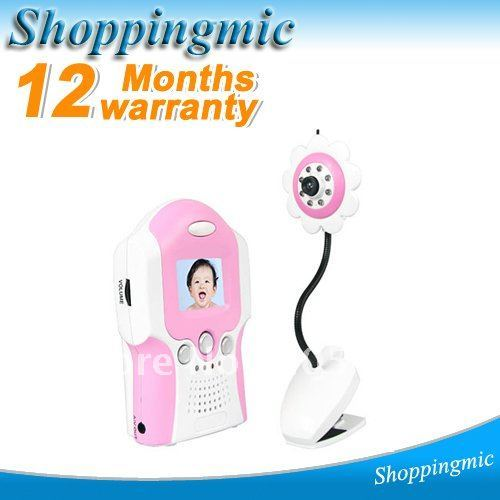 Red lovely 1.5 Inch TFT LCD BRAND 2.4GHz Wireless Nightvision Camera Voice Control Baby Monitor, Drop Shipping