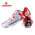 SIDEBIKE Men Athletic Cycling Bike Shoes Road Bike Carbon Bicycle Sport Shoes Sneakers Autolock Sapato Ciclismo