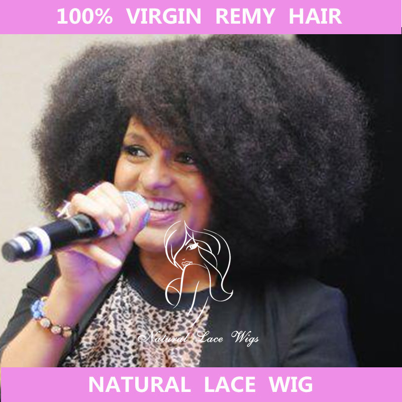 Brazilian virgin natural human hair wigs African american afro kinky yaki full lace wig black women glueless front - NLWHair Store store