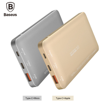 Baseus Quick Charge 3.0 Power Bank 10000mAh USB Type-c Output Portable Charger External Battery For iPhone Xiaomi Powerbank