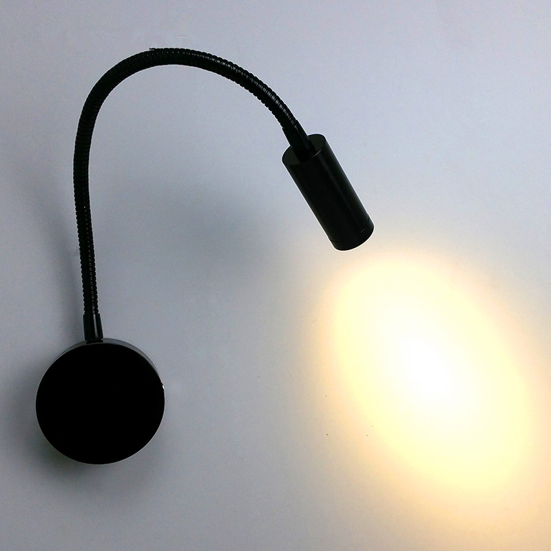 Bedside Wall Lamp With Led : LED Bedside Lamp Reading Wall Lights 3w AC110 240V Plumbing Trap Background Mirror Light With ...