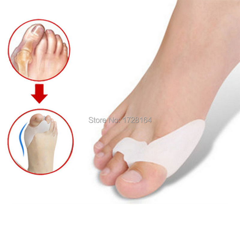 2PC Silicone Gel Foot Toe Separator Hallux Valgus Pro Thumb Protector Bunion Deformity Corrector Juanetes Corn Remover Care Feet(China (Mainland))
