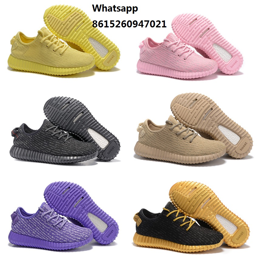 New 2016 cheap womens air 350 boost shoes oxford tan yellow gold black pink with original box for sale woman size Eur36 to 39(China (Mainland))