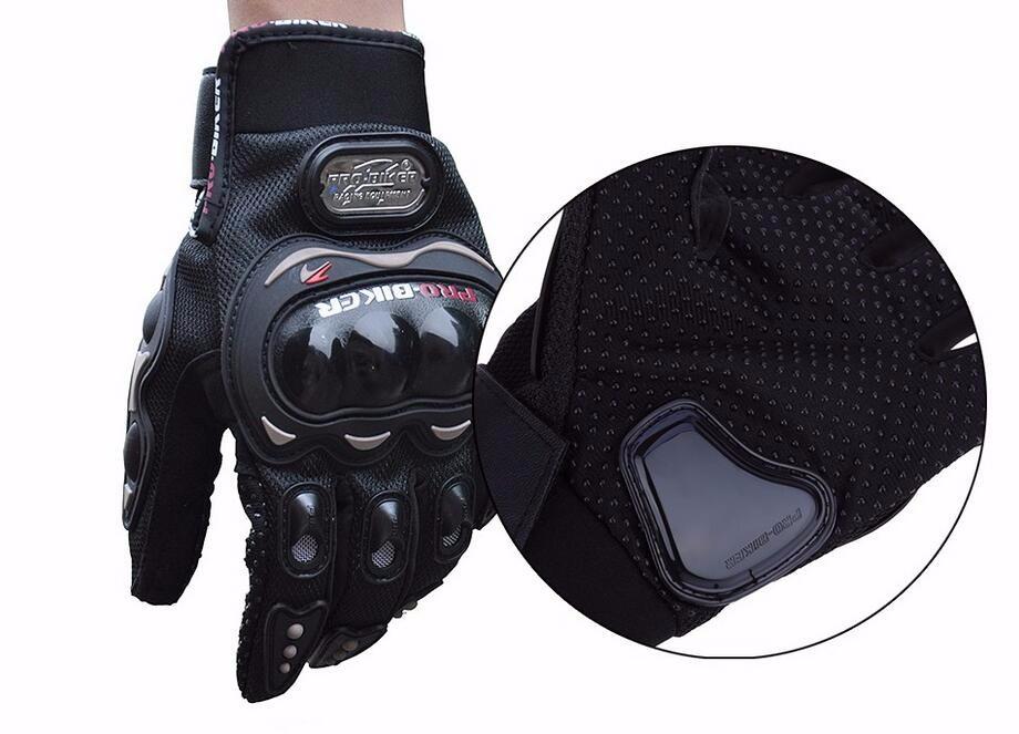 NEW PRO Motorcycle Touch Gloves Full Finger Protective Gear Black Carbon Fiber Bike Motorbike Racing Motocross Gloves Moto Luvas