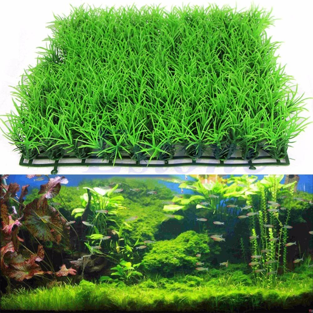 Buy new artificial water aquatic green Aquarium landscape