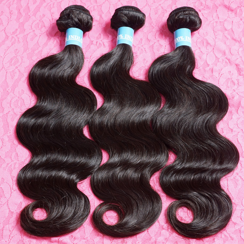 Indian Virgin Hair Body Wave 300gram Lot Cheap Price Indian Remy Hair From 8inch to 30inch Mixed Human Hair Weave Free Shipping(China (Mainland))