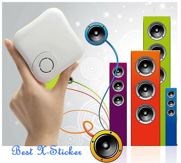 100ps/lot XDREAM X Sticker vibration speaker new generation portabl mini speaker X Vibe music