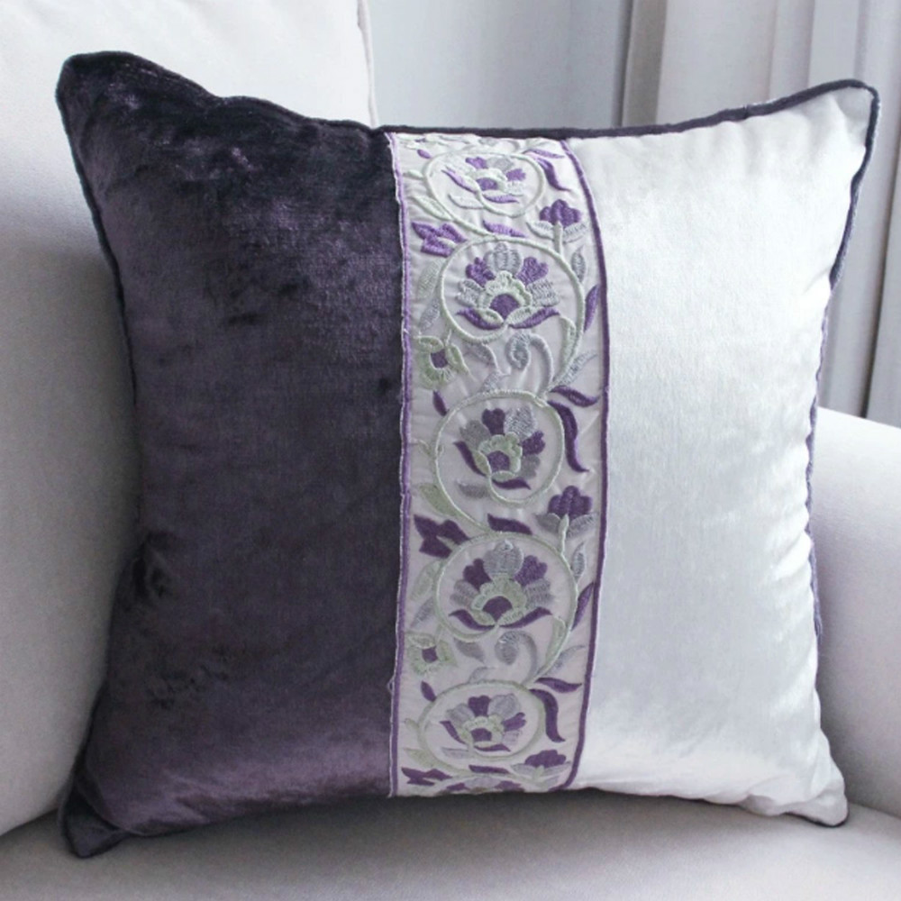 Throw Pillow Cover 18 X 18 : 1 Pc Embroidered Clover/quatrefoil Pillowcase Cushion Cover Throw Pillow Case 18 X 18 Inch-in ...