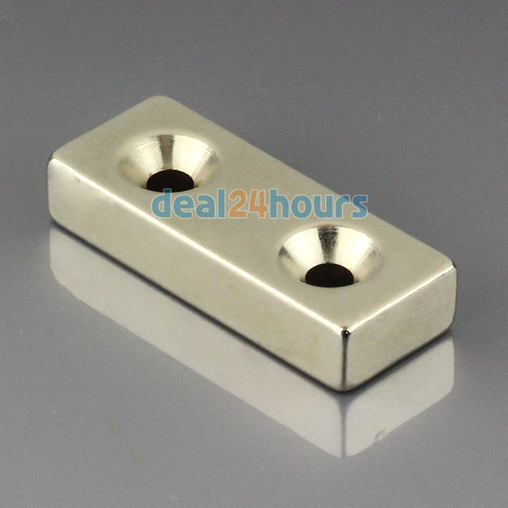 1PC Big N50 Super Strong Block Cuboid Neodymium Magnets 50 x 20 x 10 mm 2 Countersunk Hole 5mm Rare Earth Free Shipping!<br><br>Aliexpress