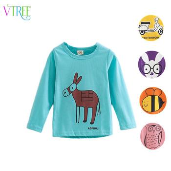 New fashion 2016 spring baby girl shirts cartoon boys girls t-shirt long sleeve children t shirts kids shirt girls tops