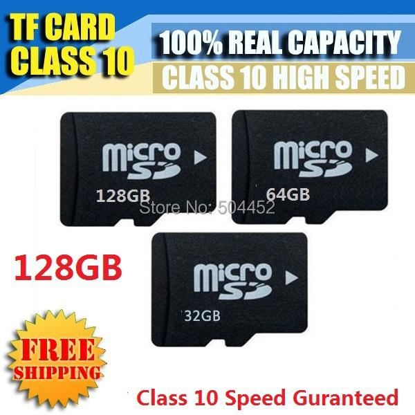 Micro SD Card 128GB 64GB 32GB 16GB 8GB 4GB 2GB 1GB 100% Real Capacity Guaranteed TF Card 64GB 32GB 16GB Class 10 Guaranted(China (Mainland))