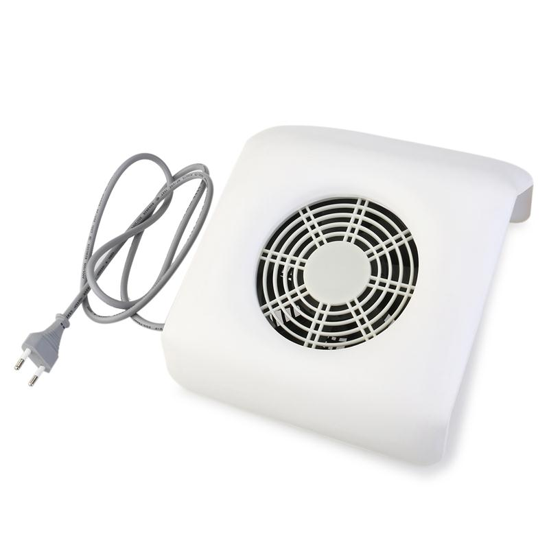 Nail Dust Collector Suction Nail Art Collector Dust Vacuum Cleaner Tool (White)(China (Mainland))