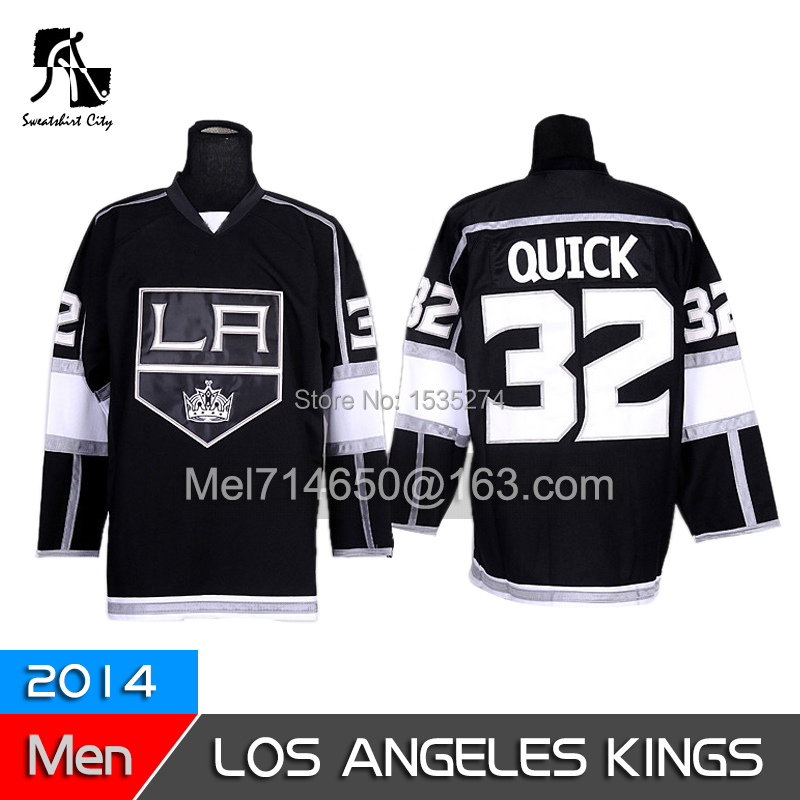 Free shipping cheap authentic Los Angeles Kings hockey jersey # 32 Jonathan rapid mixed wholesale orders(China (Mainland))