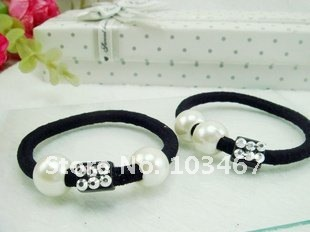 Free shipping~New Arrival Hair Accessories,pearl Hair Circle/Rope Elastic hair bands For Women 24pcs/lot+free gifts
