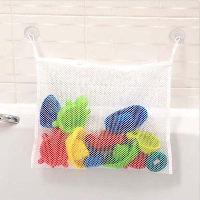 Экологически чистые Игрушки Хранения Складные Детские Ванная Комната Ванна Mesh Bag Net Присоске Корзины