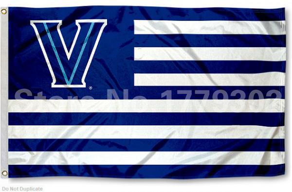 Villanova University Flag 3 ' X 5 ' Fan bandera 150 X 90 CM bandera de cobre amarillo del metal agujeros NCAA Flag