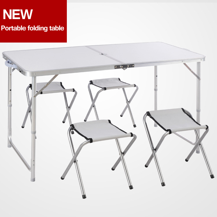 Portable camping table set folding picnictable and chairs for Table 4 en 1 intersport