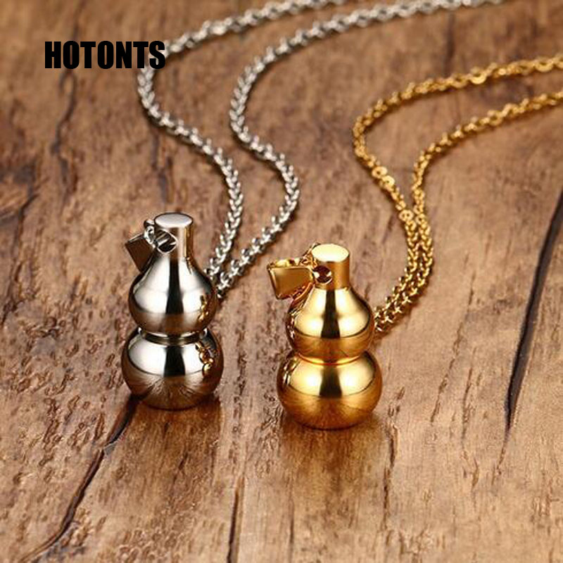 PN-704 High Polished Stainless Steel Hoist Couple Pendants Necklace For Men Women Perfume Bottle Pendants Jewelry Lovers Gifts(China (Mainland))