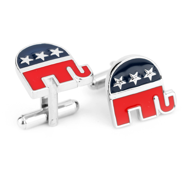 Wholesale Price New Fashion Republican Elephant Cufflinks ...