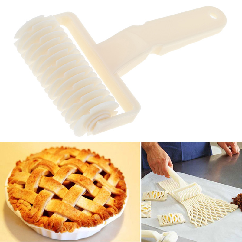New Pizza Baking Tool Cookie Pie Pizza Pastry Lattice Roller Cutter Craft Plastic Cake recipes chocolate home cooking tools(China (Mainland))