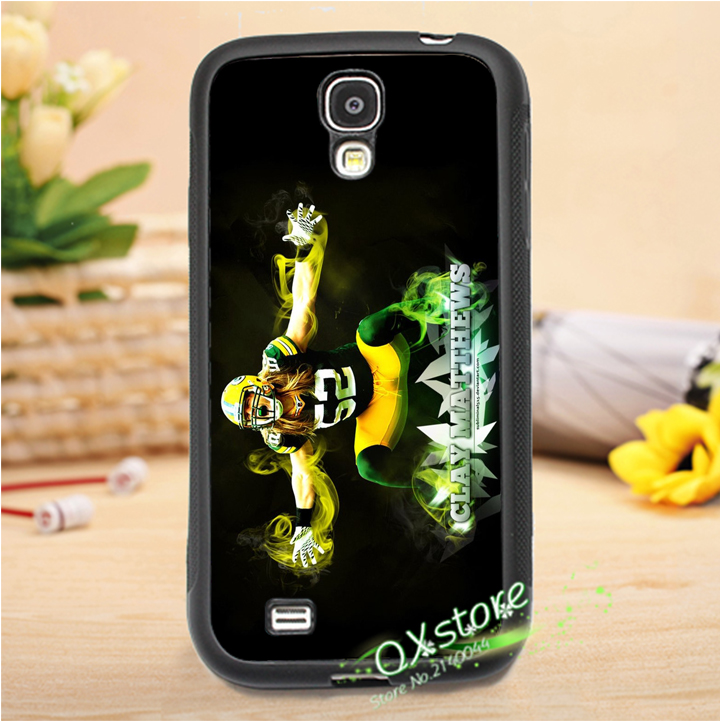 Clay Matthews green bay packers fashion phone cover case for Samsung galaxy S3 S4 S5 S6 S7 NOTE 2 NOTE 3 NOTE 4 #F116(China (Mainland))