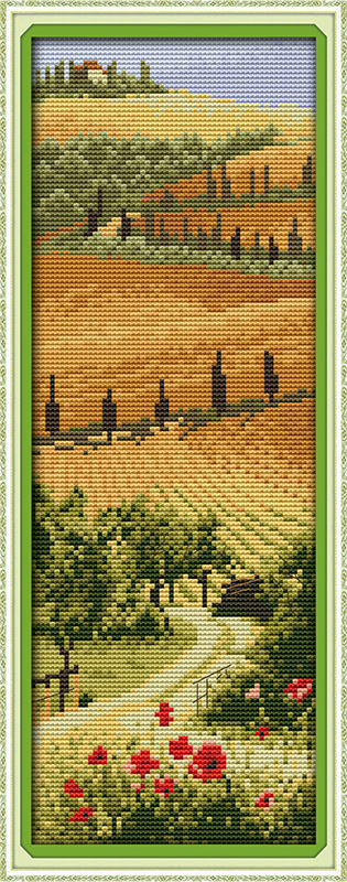 wholesale <font><b>Italian</b></font> manor cross stitch kits DMC 14ct 11ct printed cotton scenic embroidery DIY handmade needlework <font><b>home</b></font> <font><b>decor</b></font>