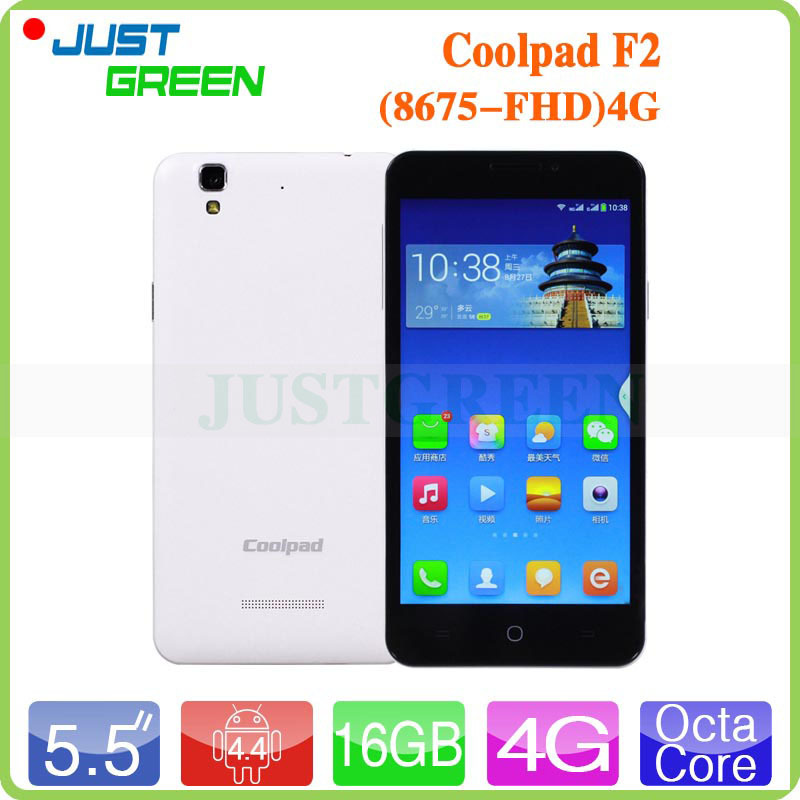5.5 Inch 1080P FHD Coolpad F2 8675 Mobile Phones MSM8939 Octa Core 2GB RAM 16GB ROM Android 4.4 13MP GPS Dual SIM 4G FDD LTE(China (Mainland))