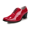 Patent Leather Oxfords Dress Shoes Fashion Black White Red Blue Business Shoes High Heels Designer Spring